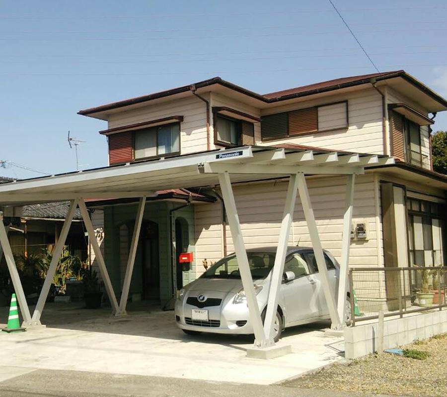 屋根が劣化していてもカーポート専用架台なら増設OK! 「テクノポートI」