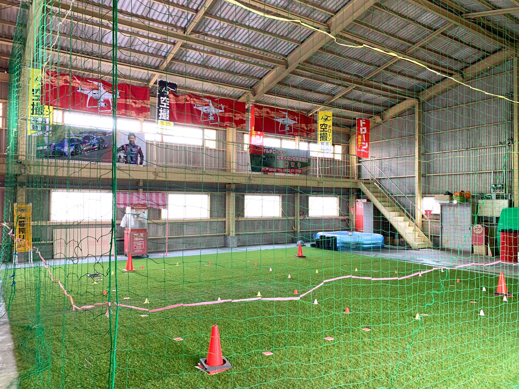 九州最大級の全天候対応型の屋内練習場です!