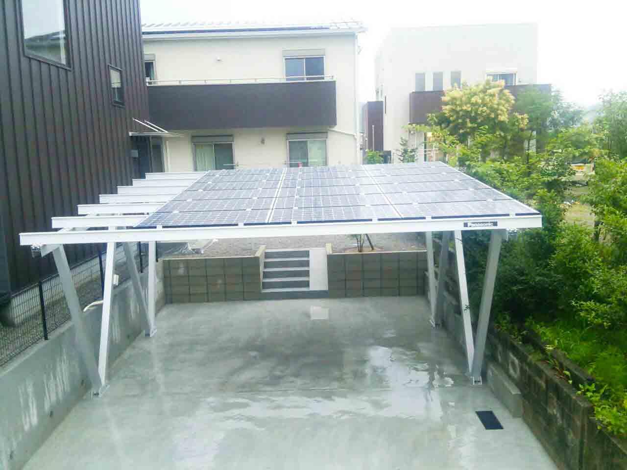 宮崎県日向市 太陽光専用カーポート