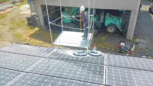鹿児島県 ネオプラスきよやま串良店様にて太陽光パネル洗浄