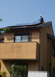 宮崎県宮崎市 T様(パネルメーカー/サンヨー) 太陽光パネル洗浄