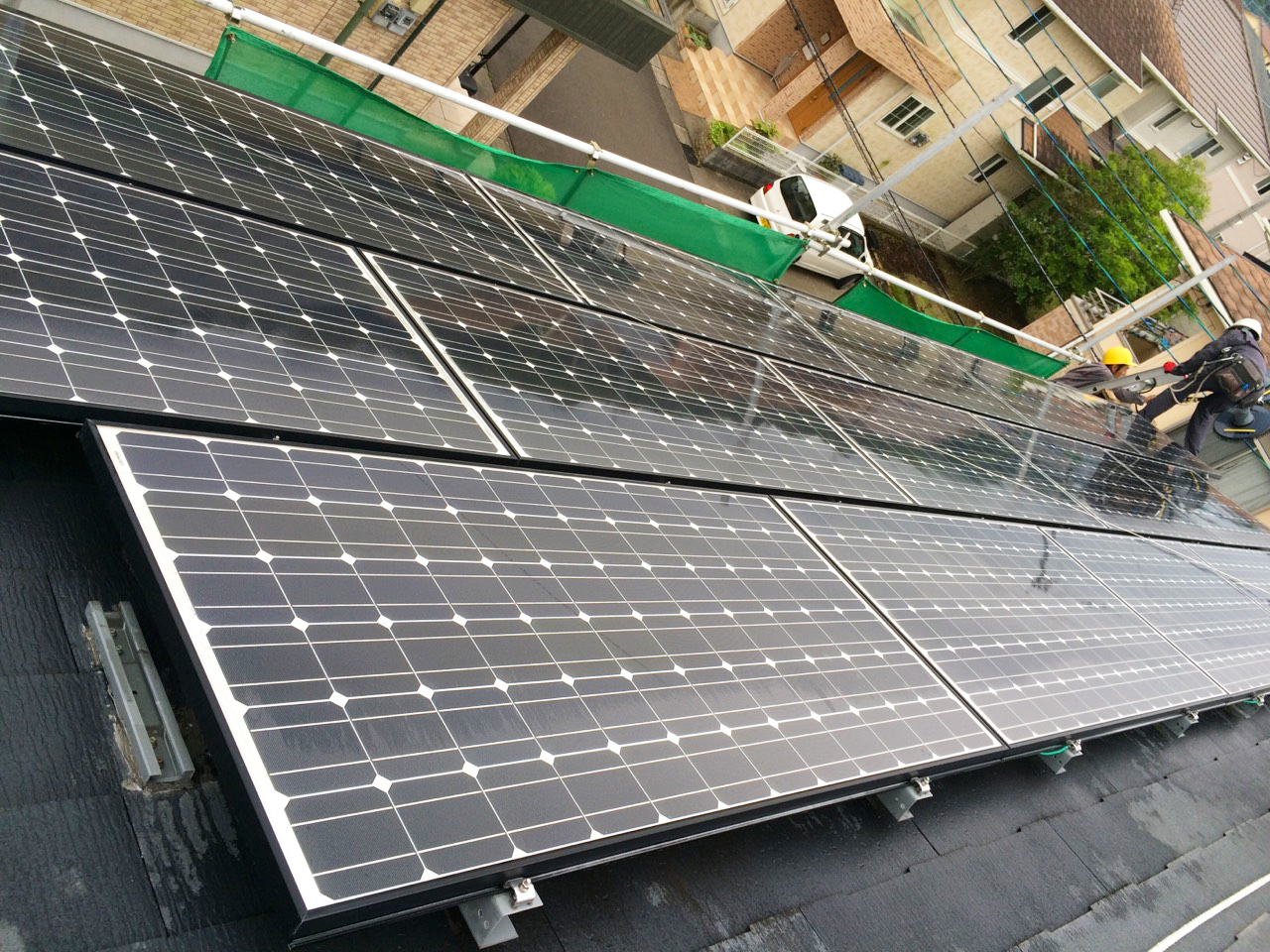 宮崎県宮崎市(パネルメーカー/サンヨー) 太陽光パネル洗浄