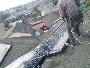宮崎県北諸県郡(パネルメーカー/東芝) 太陽光パネル洗浄