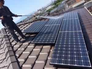 宮崎県都城市(パネルメーカー/パナソニック) 太陽光パネル洗浄