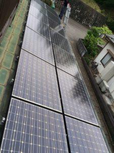 佐賀県伊万里市(パネルメーカー/三菱) 太陽光パネル洗浄
