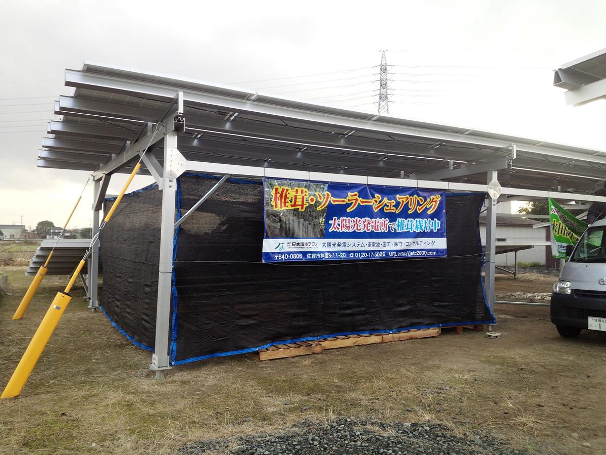椎茸・ソーラーシェアリング