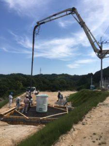 風力発電設備を設置するための基礎工事